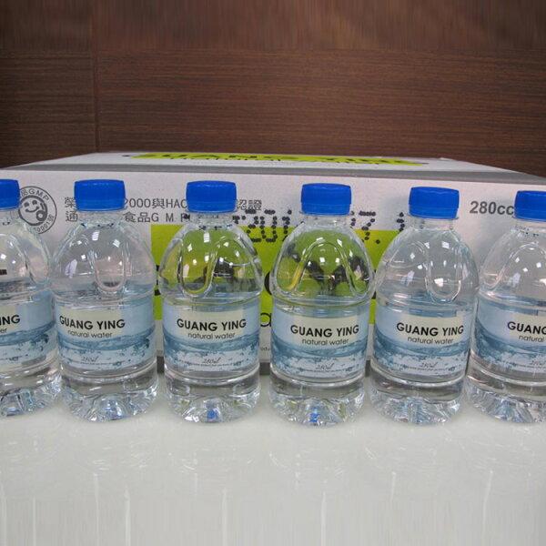 [高珍瓶裝水]光盈天然水280cc/24入 瓶裝水 礦泉水