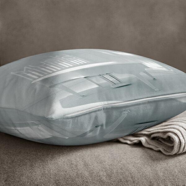 [ IHERMI] 白鋼琴A款抱枕 (45*45CM ) 愛好蜜  MIT台灣製造好安心 環保染劑使用 極細緻印染技術 1