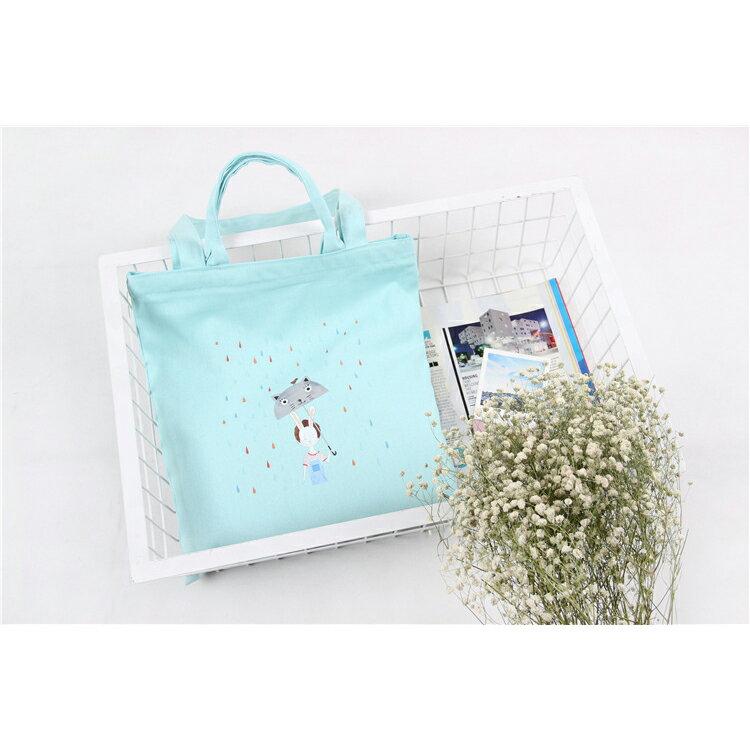 手提包 手提包 帆布袋 手提袋 環保購物袋--手提/單肩/拉鏈【SPA63】 BOBI  10/06 2
