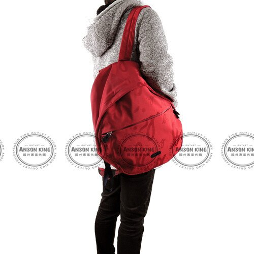 Outlet代購 agnes.b 字母後背包 小b (紅色) 另有四色 書包 通勤包 雙肩包 斜挎包 防水 4