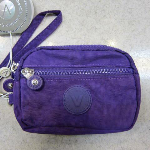 ~雪黛屋~Velamtino化妝包零錢包分類包手拿包多功能進口專櫃進口超輕防水尼龍布材質 A136-003 亮紫
