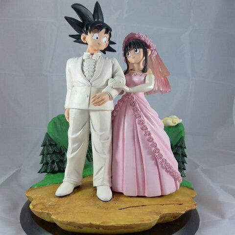 【秋葉園 AKIBA】七龍珠 孫悟空和琪琪的結婚典禮 公仔 GK模型 塗装完成品 限定品 0