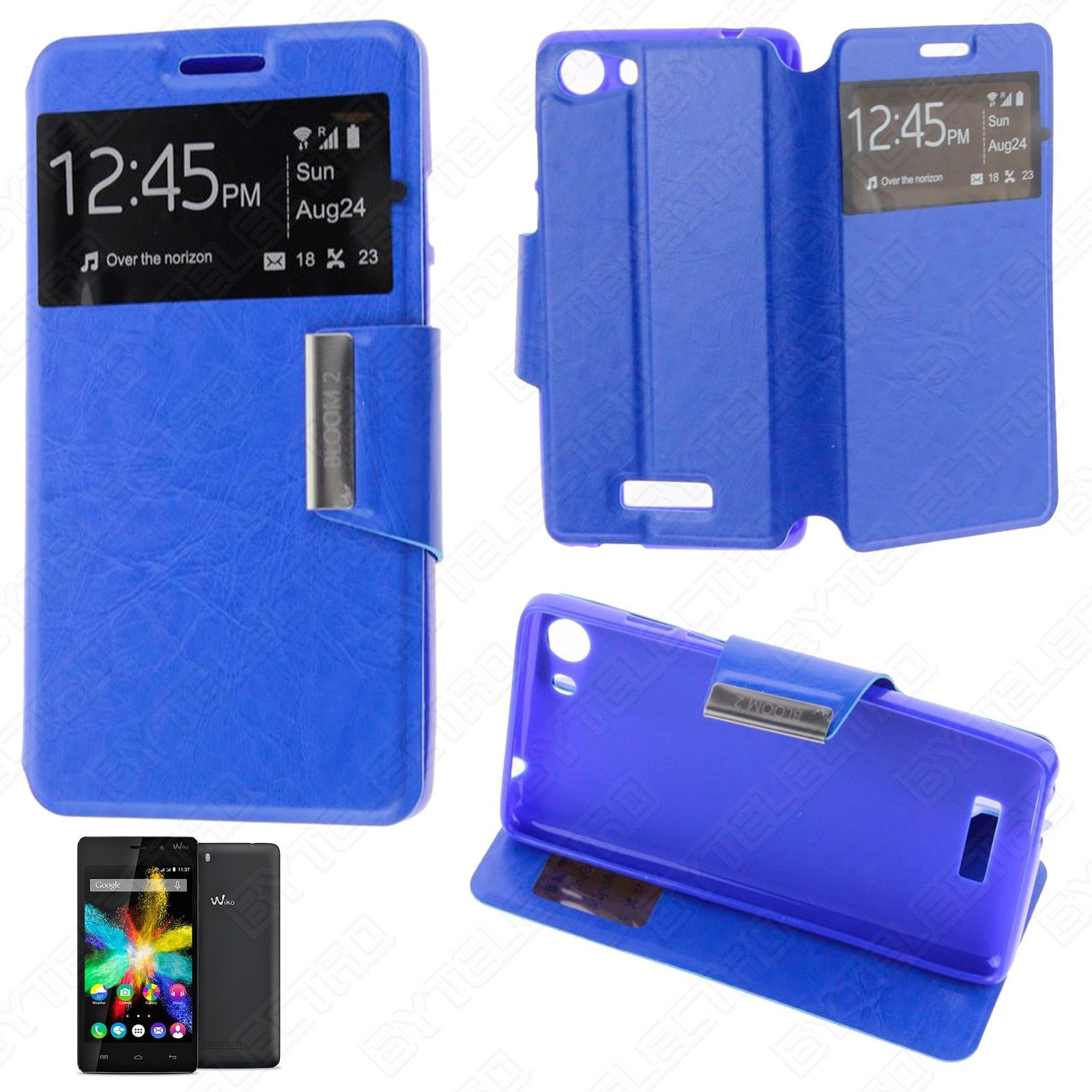 Funda Tipo LIBRO VENTANA Stand WIKO BLOOM 2 (Color Opcional) 1