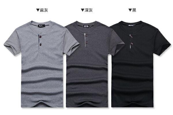 ☆BOY-2☆【NR35001】韓版簡約休閒排釦短袖T恤 2