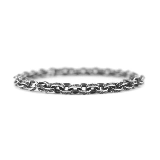 【海外訂購】【Chrome Hearts】Paper chain 鎖鍊型純銀手鍊 18cm (CHB-059-7 0223610000) 3