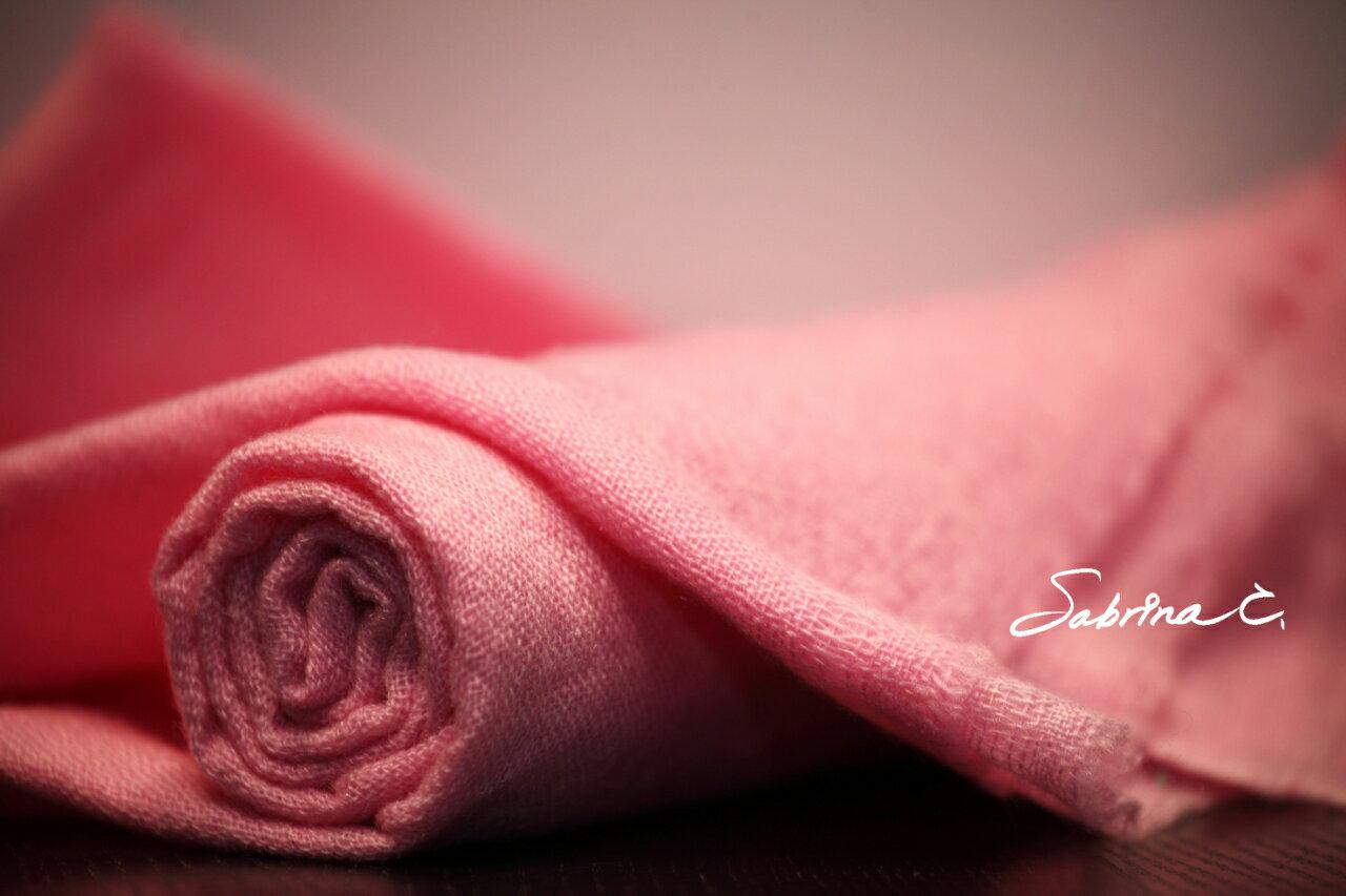 Cashmere薄織圍巾^(淺梅粉^)^(16083^) ~  好康折扣