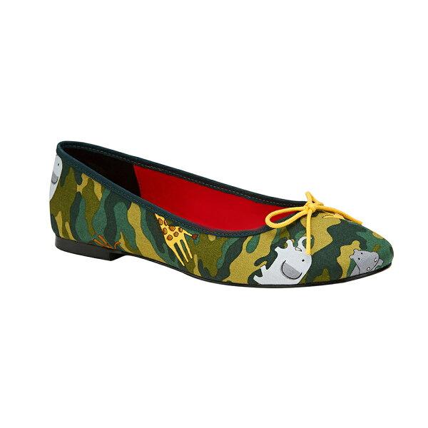 2MUCH動物迷彩娃娃鞋-綠色(35-40)