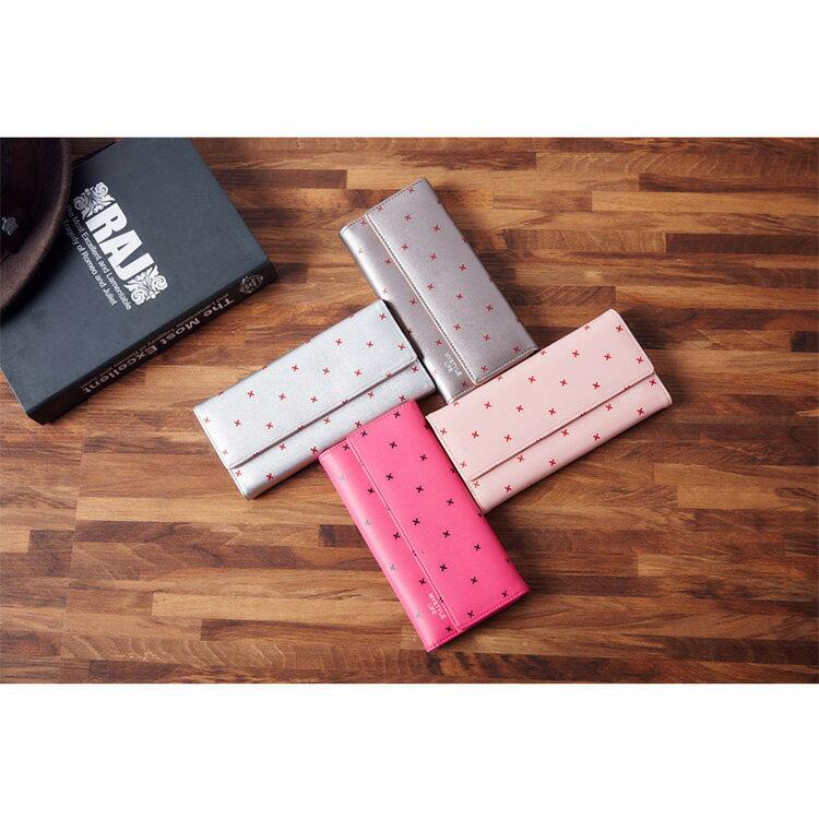 長夾 印花三折包皮夾卡包錢包長夾【WN51125】 BOBI  12/01 2