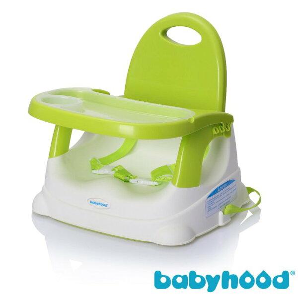 『121婦嬰用品館』傳佳知寶 babyhood 咕咕餐椅-綠色  (附透明餐盤)