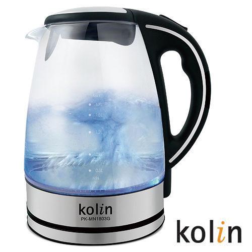 歌林kolin-1.8L晶亮LED玻璃快煮壺PK-MN1803G
