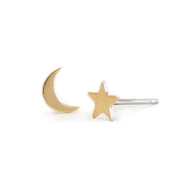 【海外訂購】【Kris Nations】金色星星&月亮手工耳環(E1-charm-G-SM  0866250000) 0