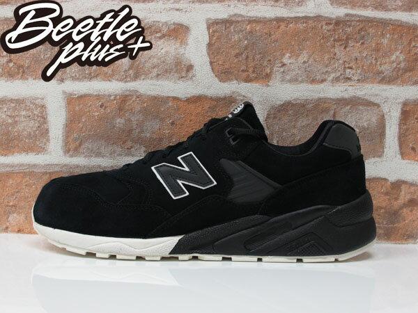 男女 BEETLE NEW BALANCE 580 輕量 麂皮 黑白 反光 3M 黑魂 武士 慢跑鞋 MRT580BV 0
