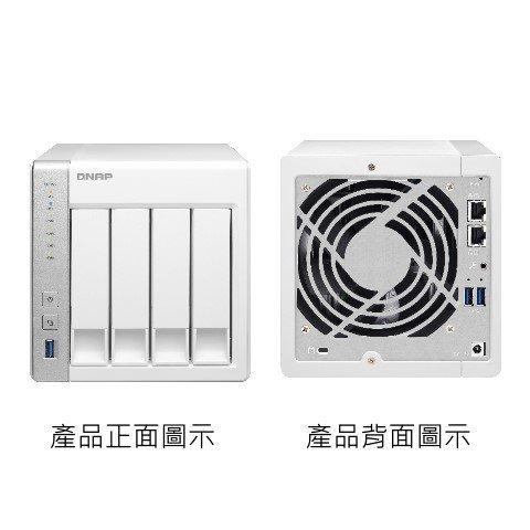 *╯新風尚潮流╭* QNAP網路儲存設備 NAS網路系統伺服器 X31+ 4顆 SATA硬碟用 2年保固 TS-431+