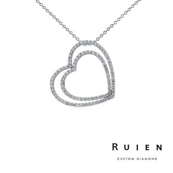0.70克拉 14K白金 熱銷款 墜子項鍊 輕珠寶鑽石項鍊 RUIEN 瑞恩珠