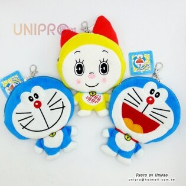 【UNIPRO】小叮噹 Doraemon 哆啦A夢 哆啦美 造型 零錢包 證件夾 2Way 伸縮票卡夾 卡套