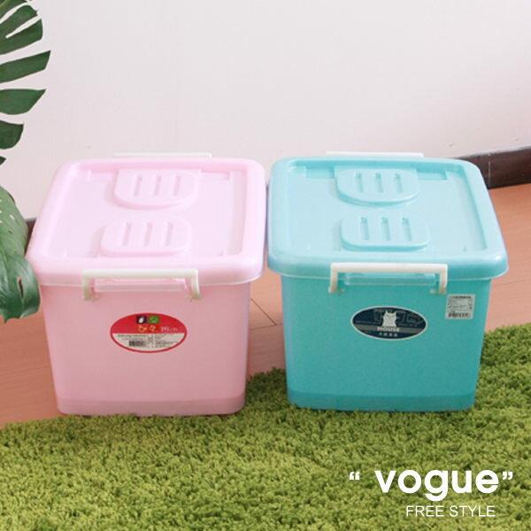 E&J【652069】Mr.box免運費,C400彩瓷滑輪整理箱S25L*3入(兩色可選)收納箱/收納袋/衣櫃/衣櫥
