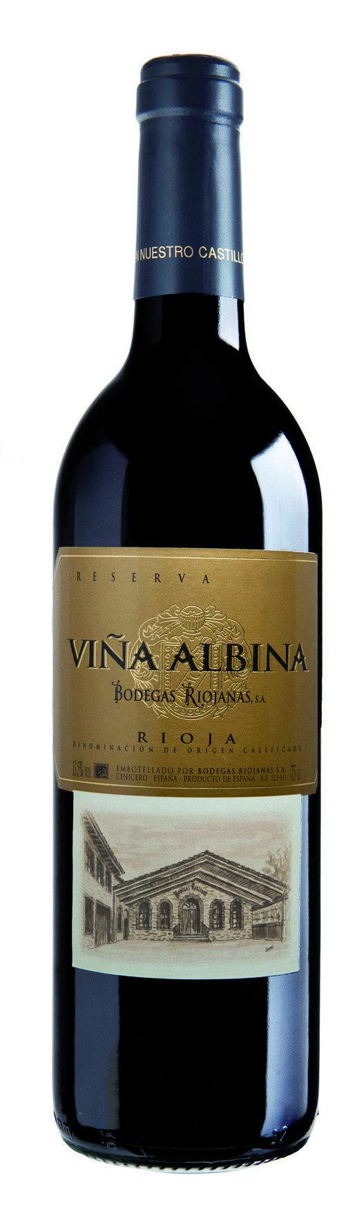 Caja de 6 botellas vino Viña Albina Reserva 2009 D.O. Rioja 0