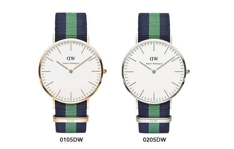瑞典正品代購 Daniel Wellington 0205DW 銀 尼龍 帆布錶帶 男女錶 手錶腕錶 40MM 1
