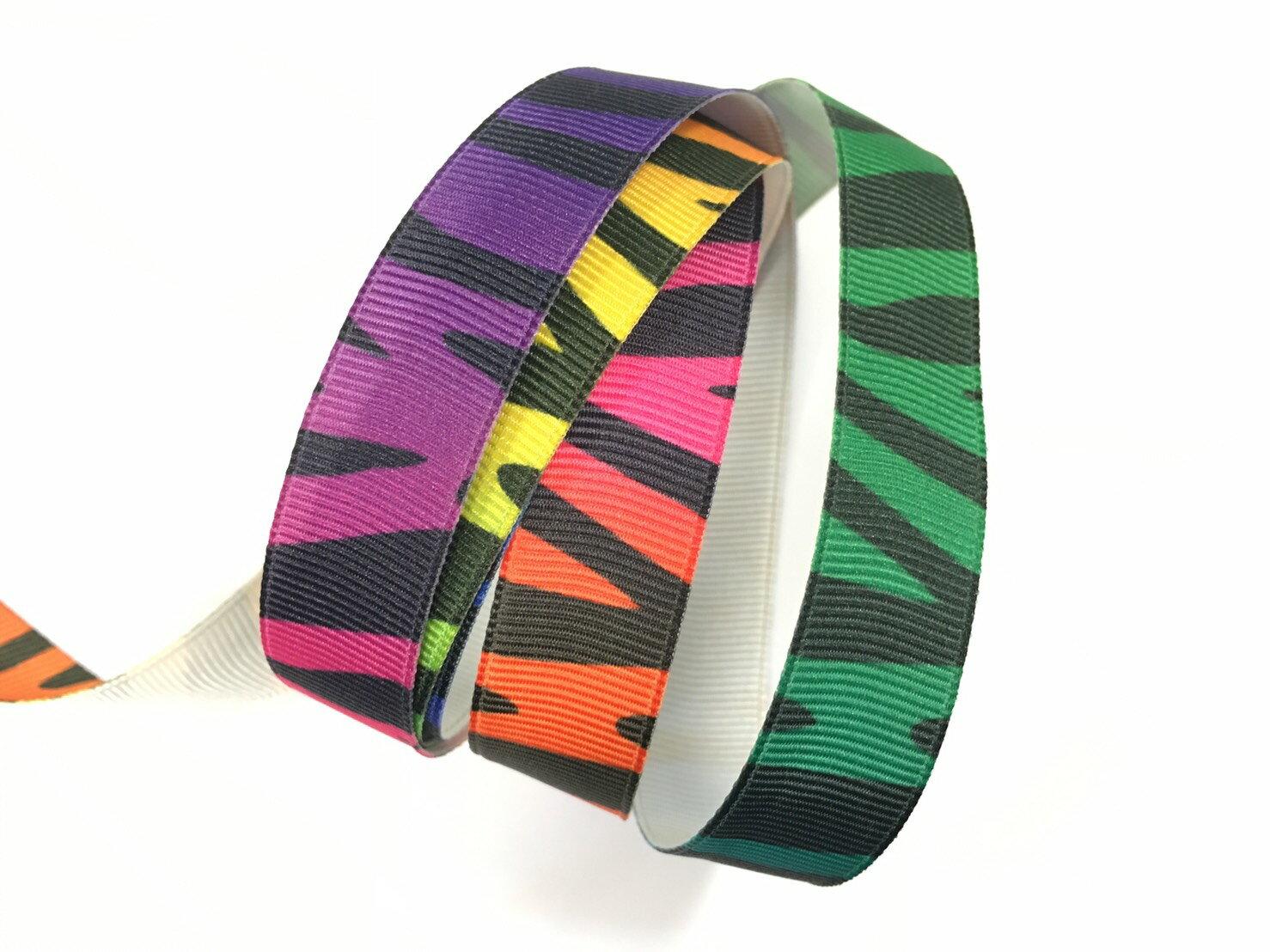 羅紋緞帶-漸層斑馬 15mm 3碼裝 - 限時優惠好康折扣