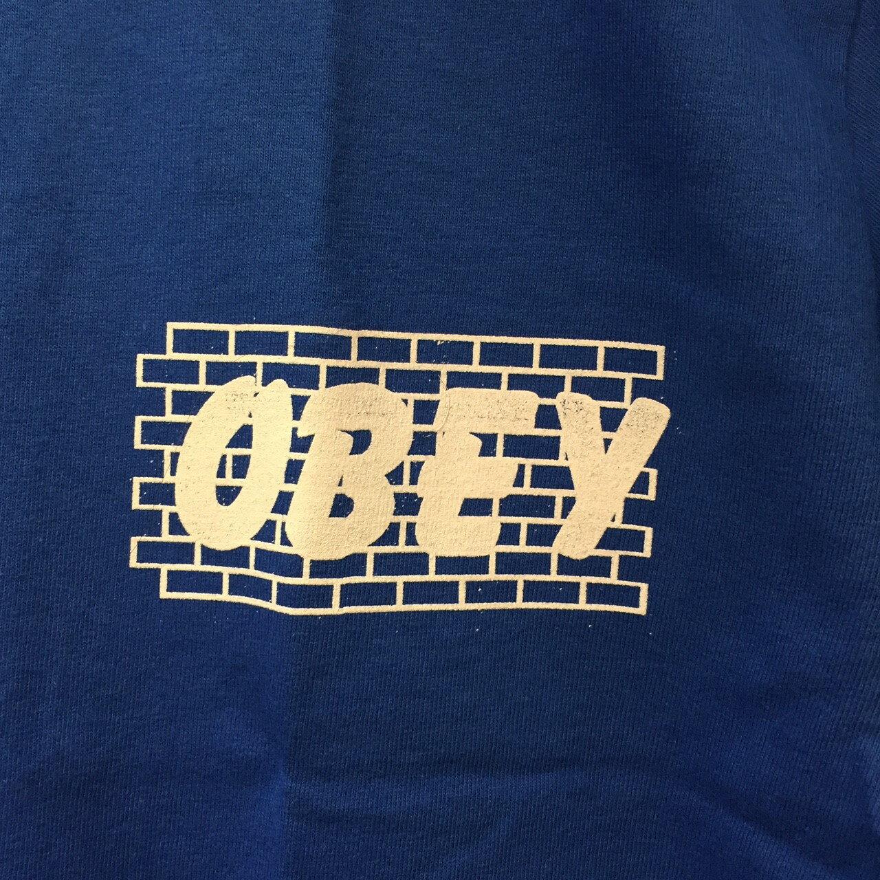 BEETLE OBEY BRICK WALL TEE 磚牆 寶藍 白字 藍白 LOGO 短T TEE OB-419 163081179ROY 1
