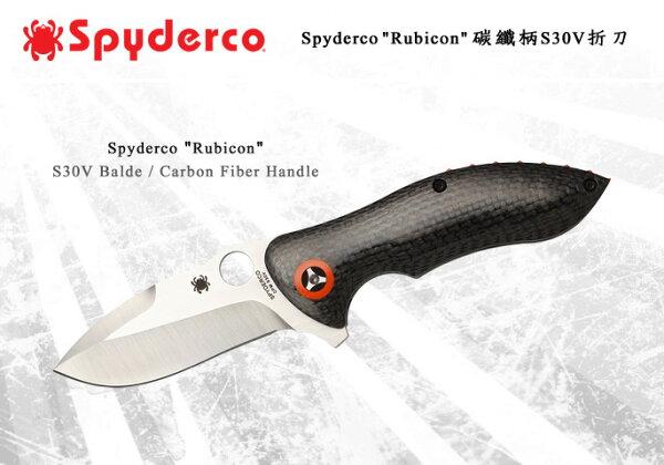 "Spyderco ""Rubicon"" 碳纖柄S30V折刀 #SPY C187CFP"