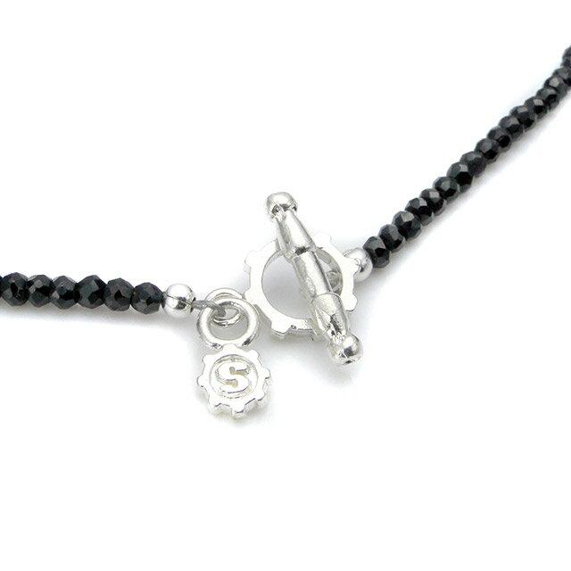 【現貨商品】【STARLINGEAR】復古風格黑尖晶石串珠純銀骷髏項鍊(STN040M-SV-2  0639260000) 2