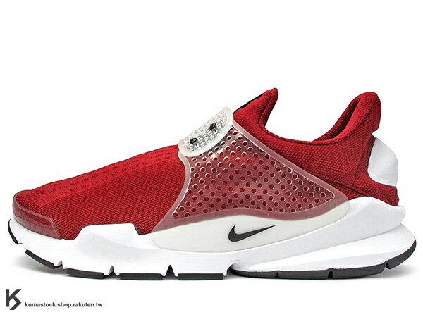 [28cm] 2016 NSW 藤原浩 提案設計 重新復刻 NIKE SOCK DART GYM RED 紅 紅白 慢跑鞋 HTM 襪子 FRAGMENT (819686-601) !