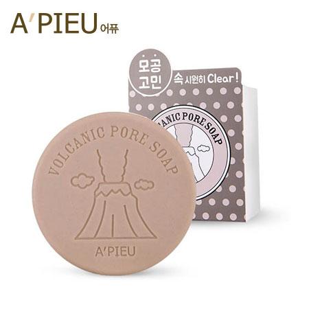 韓國 A  ^#27 PIEU 火山泥毛孔清潔皂 100g 潔面皂 洗顏皂 洗臉皂 肥皂