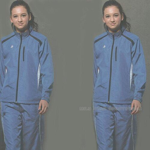 MILD STAR 男女平織網裡運動服套裝[全套]-寶藍#JS601405-PS601605 0