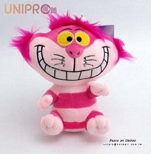 【UNIPRO】 迪士尼 愛麗絲夢遊仙境 紫郡貓 Cheshire Cat 娃娃 玩偶 正品 坐姿 妙妙貓