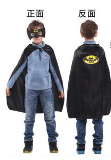 "X射線【W275940】30""蝙蝠小遊俠眼罩披風組,萬聖節服裝/化妝舞會/派對道具/兒童變裝/表演/蝙蝠俠/DC/cosplay/英雄"
