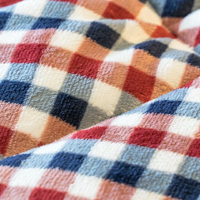 經典格子 羊羔絨暖被 內有充棉 可當棉被使用 150cmX195cm (正負5cm) 3