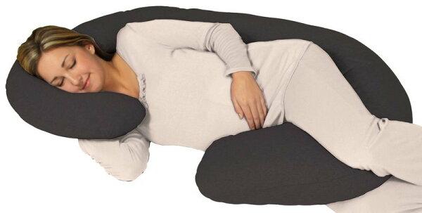 全新 Leachco Snoogle淺黑色 孕婦枕(枕心+100%純棉拉鍊式枕套)