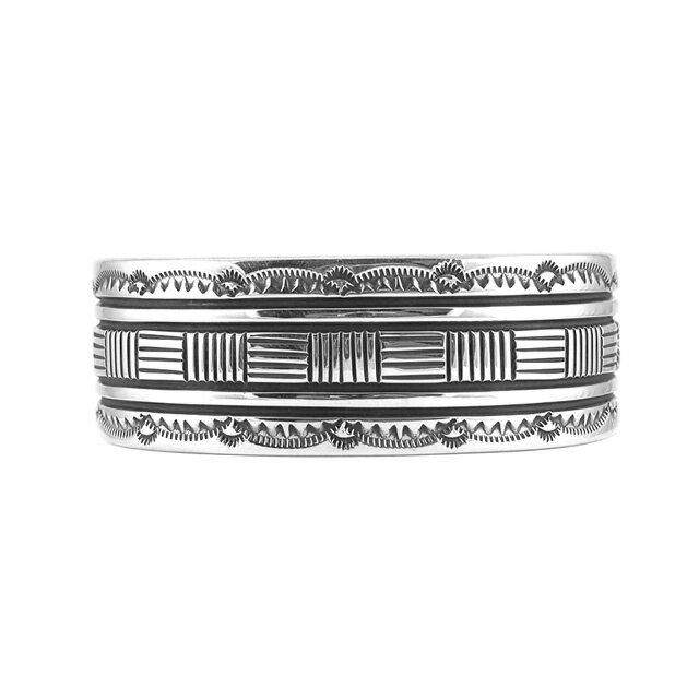 【現貨商品】【Indian Jewelry】印地安圖騰刻印寬版手鐲(Navajo-045-R-10633) 1
