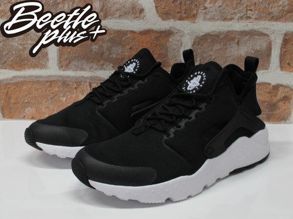 BEETLE WMNS AIR HUARACHE RUN ULTRA 二代 武士 黑白 慢跑鞋 819151-001 1