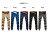 ☆BOY-2☆【NM88047】縮口褲美式街頭潮流休閒素面拼接皮標束口工作褲 1