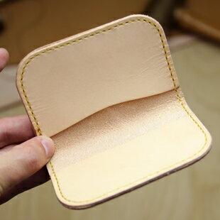 EA-05   DIY動手作!  名片夾套件  天然膚色  (本商品須自備皮件工具) /名刺入れキット  ナチュラル