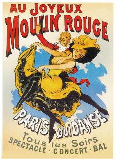 Moulin Rouge 紅磨坊舞者海報 (含框)