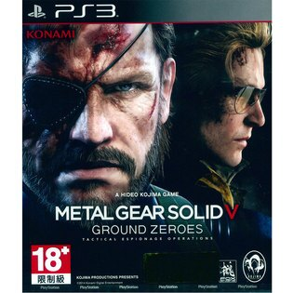 (現貨全新)PS3 潛龍諜影 5:原爆點 英日文亞版 Metal Gear Solid V: Ground Zeroes