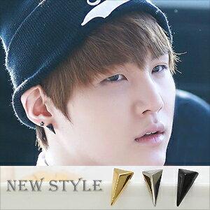 ☆ New Style ☆ BTS 防彈少年團 Suga 閔玧其 同款立體三角耳釘耳環 (單支價)