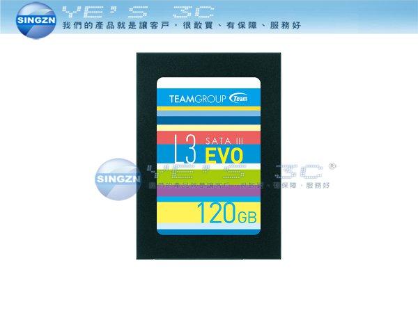 「YEs 3C」全新 TEAM 十銓 L3 EVO 120G SSD SATA III固態硬碟