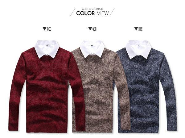 ☆BOY-2☆【PPK86033】情侶韓系圓領粗針織素面毛衣 2
