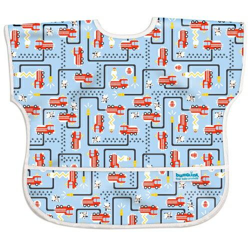 美國【Bumkins】兒童短袖防水圍兜 - 消防車 BKU-897 (1-3歲) 0