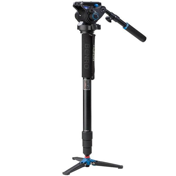 ◎相機專家◎ BENRO 百諾 A48TDS6 油壓雲台單腳架套組 送原廠腳架袋 同MVM500A 勝興公司貨
