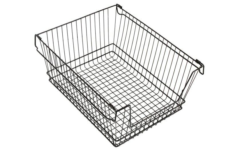 【凱樂絲】媽咪好幫手櫃子鐵線收納籃 (大型) - 自由DIY 空間利用 透氣通風, 客廳, 廚房, 衣櫃適用 4