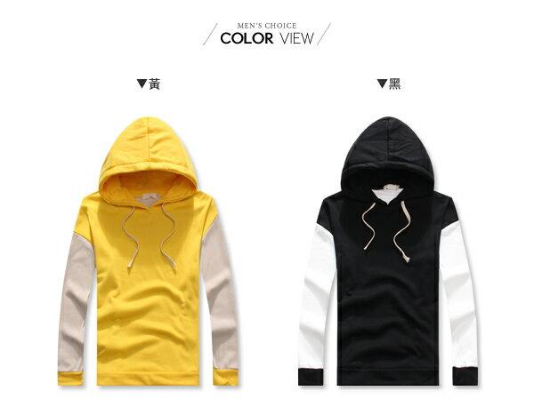 ☆BOY-2☆【NQ96030】休閒拼接配色連帽T恤 1