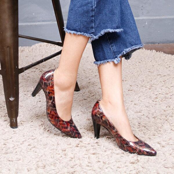 Gabor 菱紋未來感時尚低跟鞋 1
