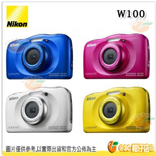 送16G Nikon W100  國祥公司貨 防水相機 防撞 兒童相機 防撞防寒  Full HD 1080/30p1 取代 S33