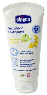 【淘氣寶寶】CHICCO 兒童木醣醇含氟牙膏(蘋果香蕉) 50ml