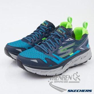 SKECHERS 男運動鞋 GO Trail Ultra 3  (藍*綠)  輕量 避震緩衝